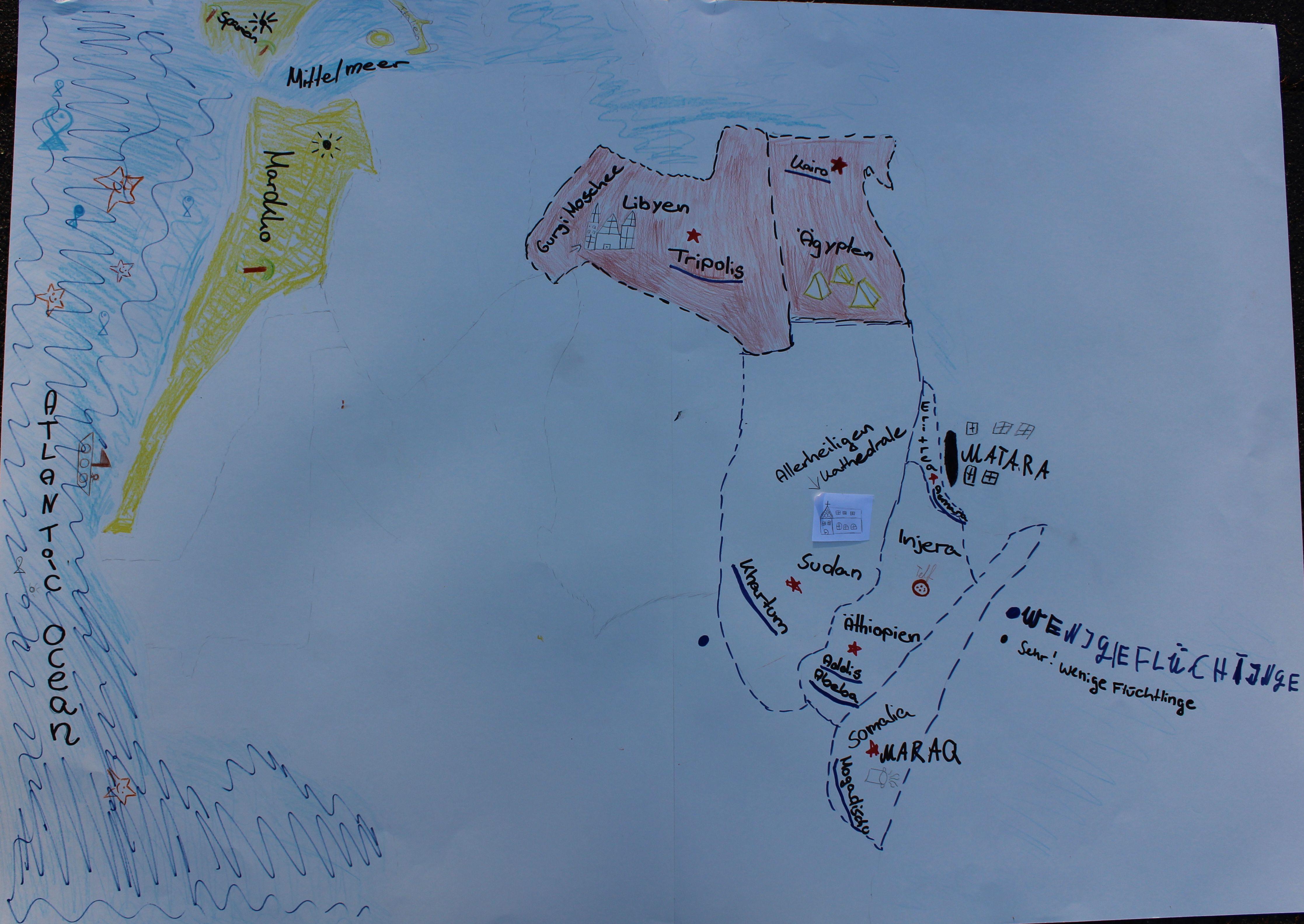 Landkarte Afrika 12102018