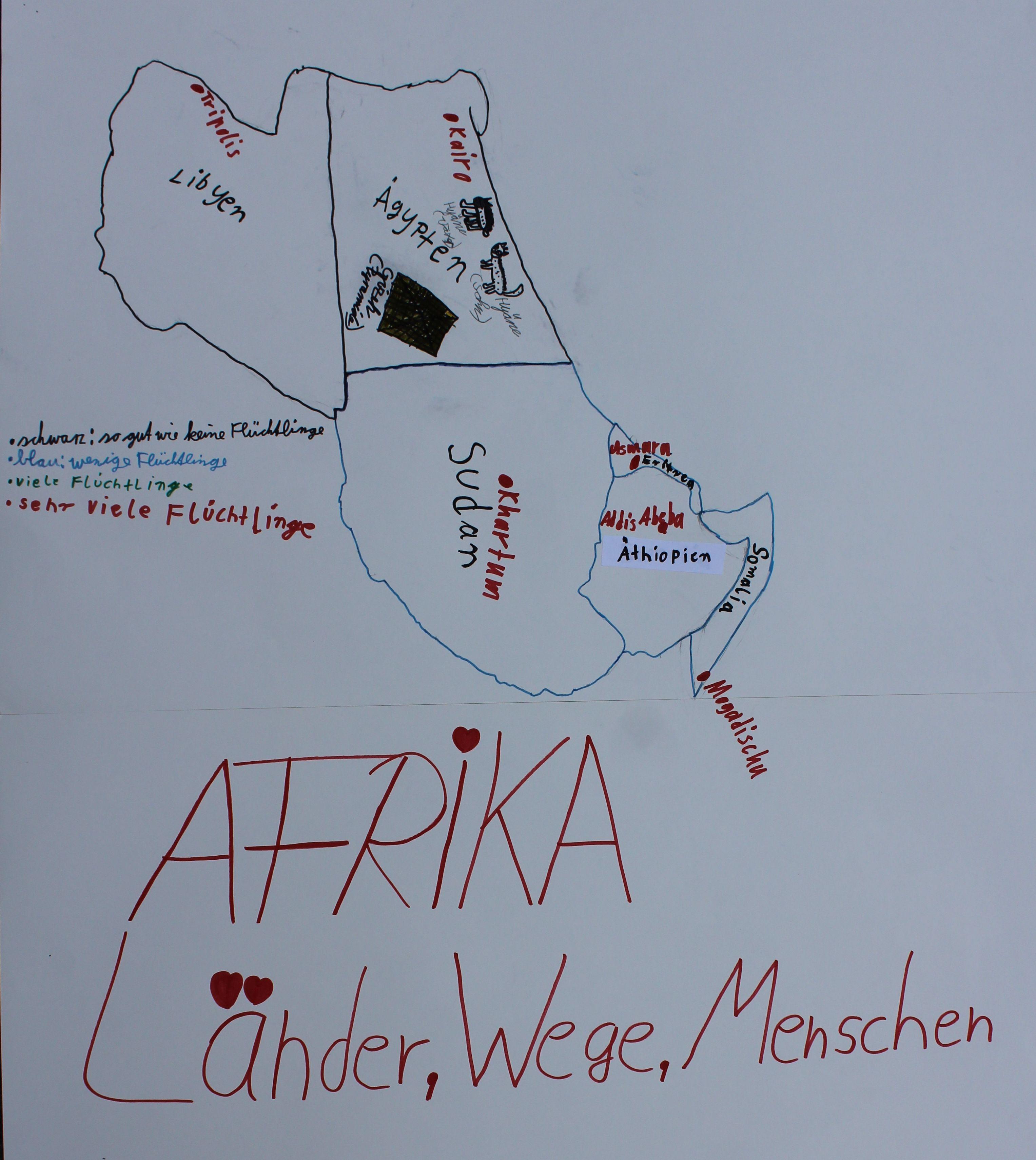 Landkarte Afrika 19102018