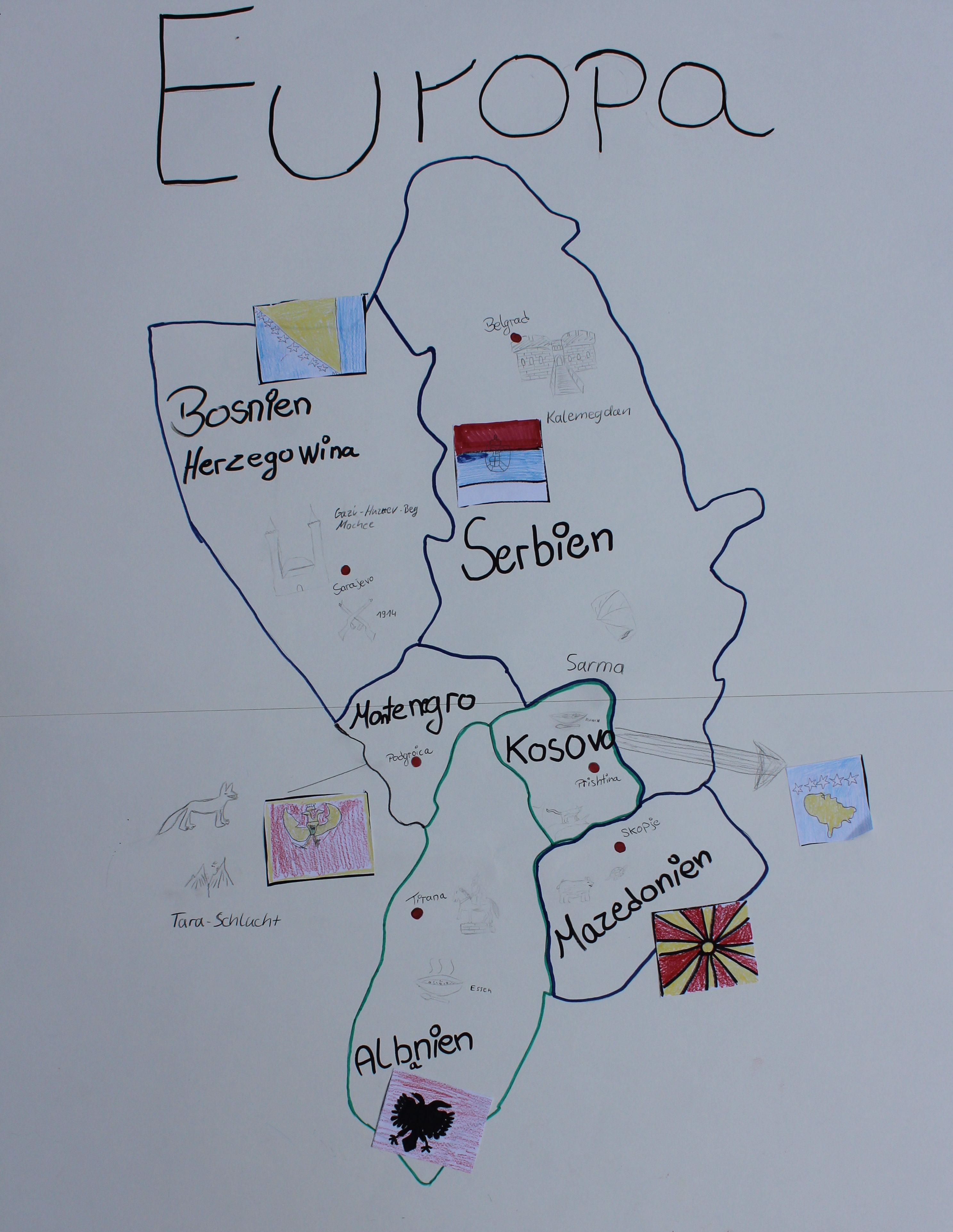 Landkarte Europa 19102018